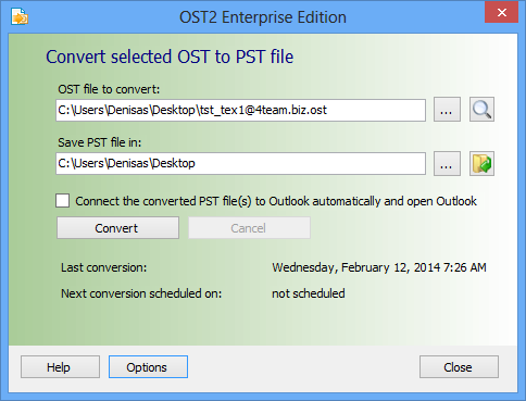 OST to PST converting options